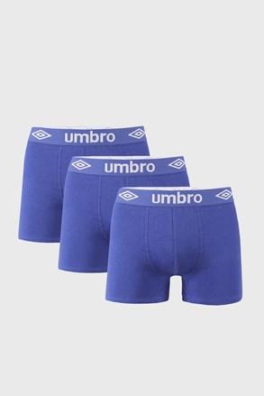 3 PACK boxeri Umbro BIO albastru