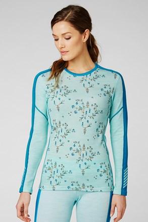 Bluză damă Helly Hansen Lifa Merino, material funcțional, cu model