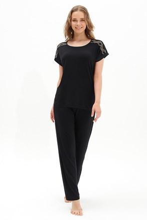 Set haine de casă damă Black Pearl, negru