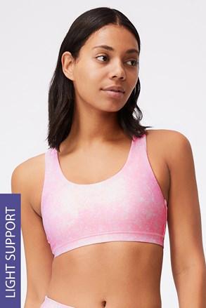 Sutien sport Strappy, roz