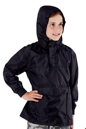 Jacheta copii neagra pliabila ProClimalite, material impermeabil
