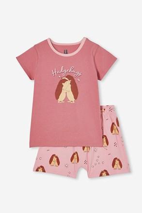 Pijama scurtă fetițe Gedgehog hugs