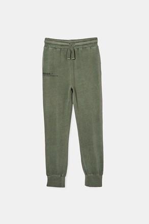 Pantalon de trening băieți Swag green