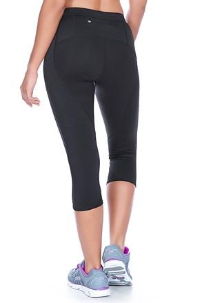 Pantalon 3/4 negru Capri