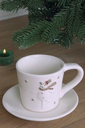 Cană din ceramică cu farfurie Sněhulák
