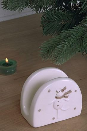 Suport șervețele Snowman din ceramică