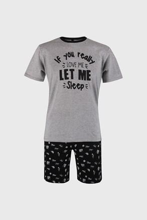 Pijama Dorph, gri-negru