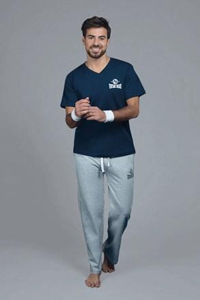 Bluza de pijama Perm pentru barbati, albastru