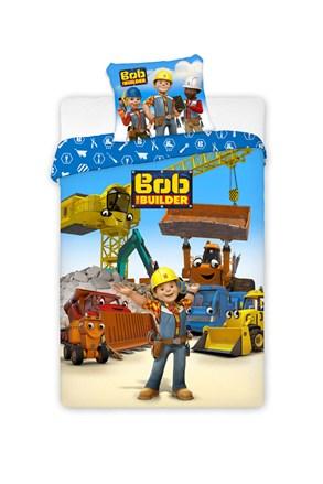 Lenjerie de pat pentru baieti Constructorul Bob