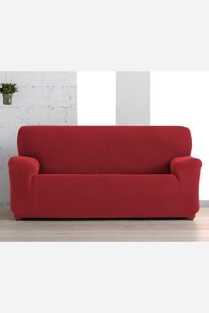 Husa Creta pentru canapea cu 3 locuri, rosu