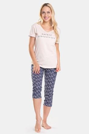 Pijama damă cu pantalon 3/4 Abeil