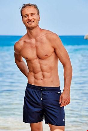 Pantalon scrurt de baie Basic PLUS SIZE, albastru închis
