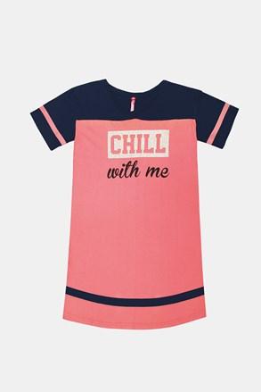 Camasa de noapte pentru fetite Crew roz