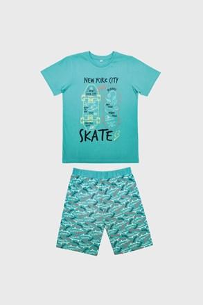 Pijamale pentru baieti Skate albastru deschis