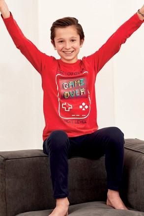 Pijama pentru băieți Magic Play roșu