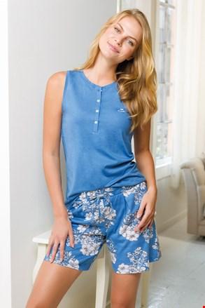 Pijama scurtă de damă, albastru
