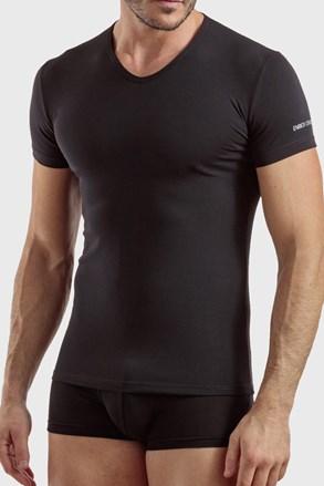Tricou barbatesc V neck, negru