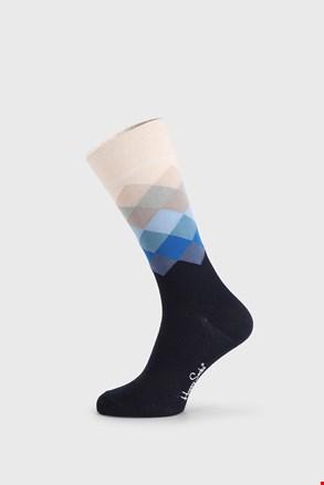 Șosete Happy Socks Faded Diamond, albastru