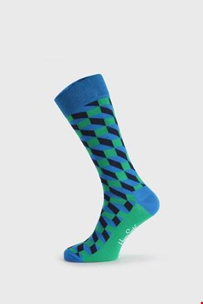 Șosete Happy Socks Filled Optic, verde-albastru
