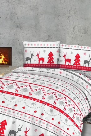 Lenjerie de pat din flanel Sobíci model de Crăciun