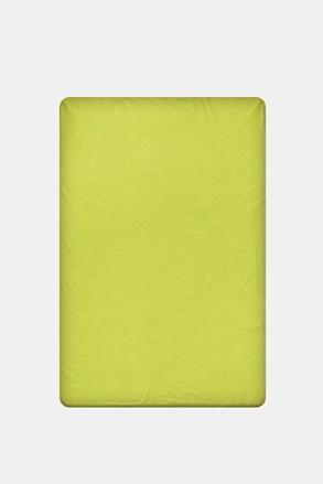 Cerşaf de pat cu elastic din bumbac, verde