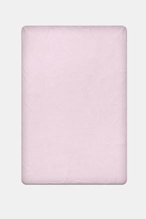 Cerşaf de pat cu elastic din bumbac, violet deschis