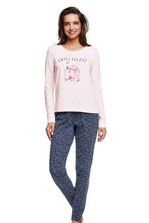 Pijama dama Hearty, din bumbac