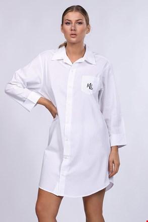 Camasa de noapte Ralph Lauren, alb