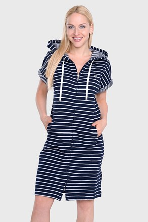 Camasa de noapte Ralph Lauren Navy Stripe