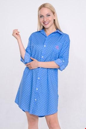 Camasa de noapte Ralph Lauren Blue Dot