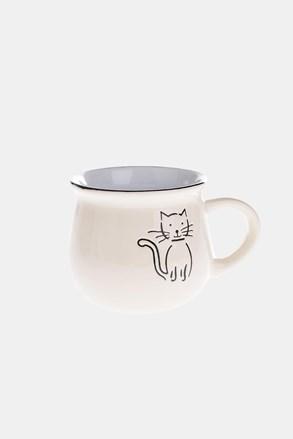 Cana ceramica cu pisica bej 368 ml