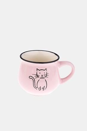Cana ceramica cu pisica roz 213 ml