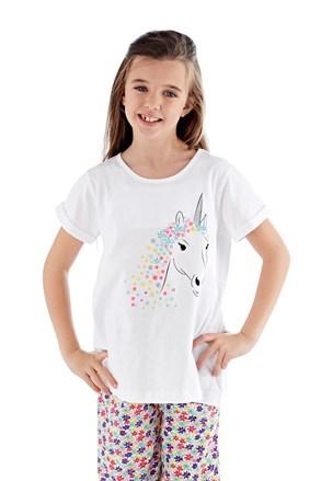 Pijama fete Polly, lunga, alb