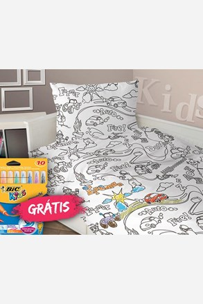 Lenjerie de pat pentru baieti Pictura