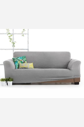 Husa Milos pentru canapea cu trei locuri, gri