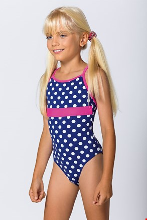 Costum de baie intreg Dots, pentru fetite