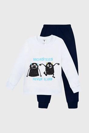 Pijama pentru băieți Monsters cu imprimeu luminos