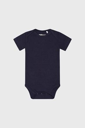 Body băieți Baby albastru cu mânecă scurtă