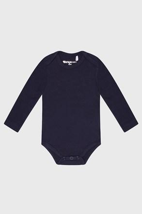Body băieți baby albastru cu mânecă lungă