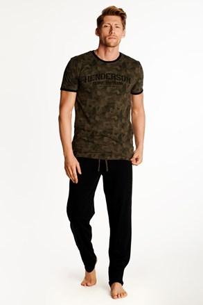 Pijama Okay, maro-negru