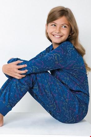 Pijama fetițe Jednorožec, albastru