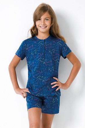 Pijama fetiţe Jednorožec II, albastru