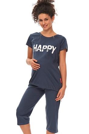 Pijama Happy Mommy sarcina si alaptare, albastru