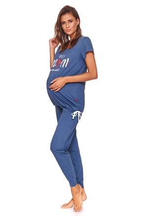 Pijama Best mom, sarcina si alaptare, albastru