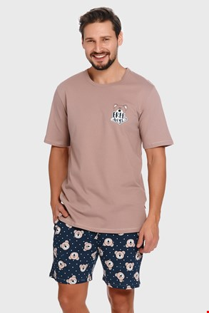 Pijama Bear, gri-albastru