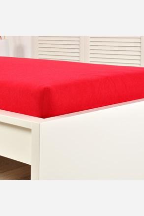 Cersaf de pat cu elastic din jersey, rosu