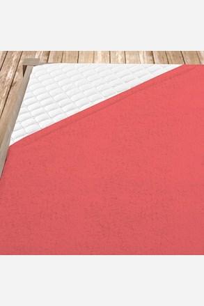 Cearsaf elastic de pat din froté, roz inchis
