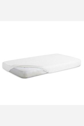 Cearsaf de pat impermeabil cu elastic din jersey, alb