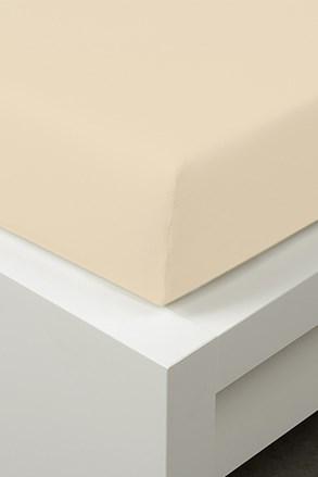 Cearsaf de pat cu elastic din tencel, vanilie