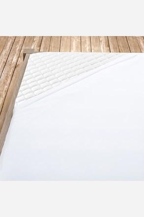 Cearsaf cu elastic, din bumbac, alb